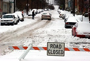 Having closed roads is usually the least of our problems.