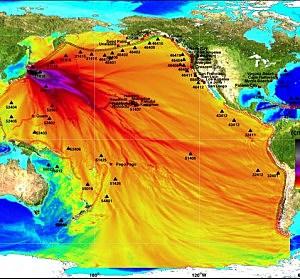 Tsunami Energy Plot from NOAA .gov