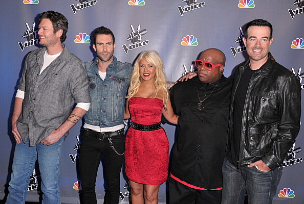 "NBC's ""The Voice"" Crew: Blake SHelton, Adam Levine, Christina Aguilera, Cee Lo Green, Carson Daly"