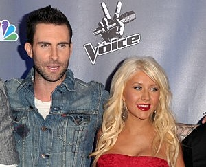 Adam and Christina on March 15, 2011 in Los Angeles, California.