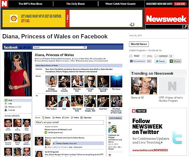 Princess DI Mock Facebook