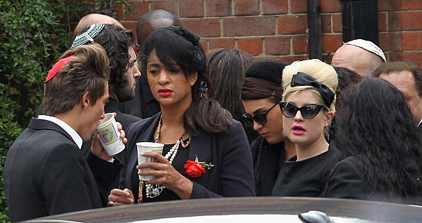 Kelly Osbourne along with Family And Friends Of Amy Winehouse Attend Golders Green Crematorium