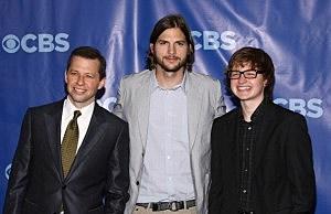 Two and a Half Men Crew Jon Cryer, Ashton Kutcher and Angus T. Jones