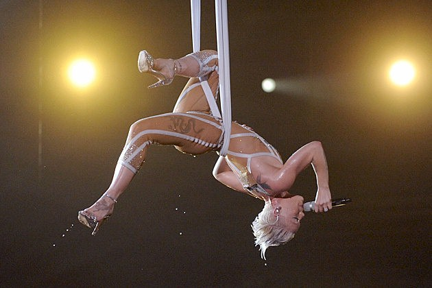 "Pink performing ""Glitter in the Air"" on the Grammy Awards Show on CBS in 2010"