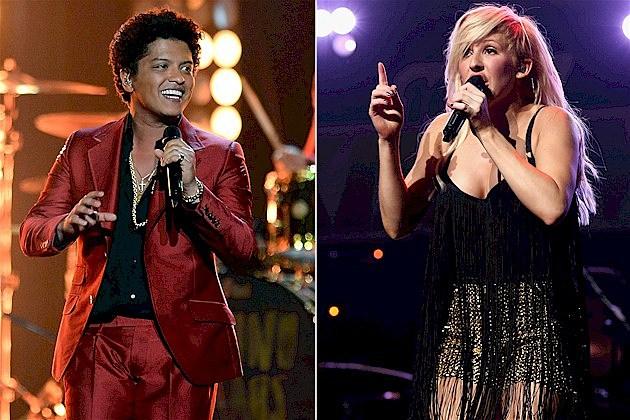 Bruno Mars and Ellie Goulding
