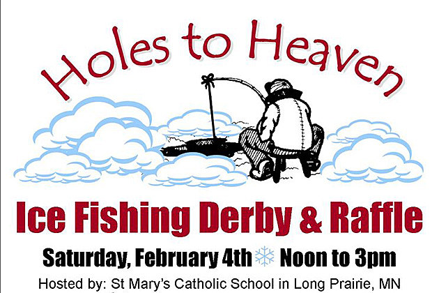 Holes to heaven ice fishing derby ice fish satuday for a for Ice fishing derby game